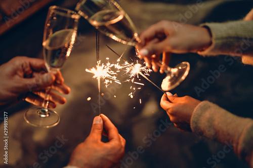 Family New year Fototapet