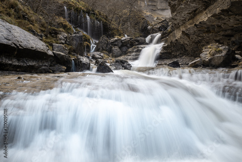 Nervion river falls, Delika canyon, Basque Country, Spain
