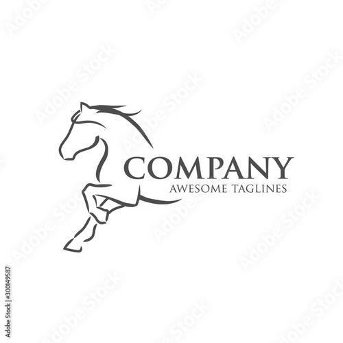 Photo simple horse vector illustration best for sport races logo