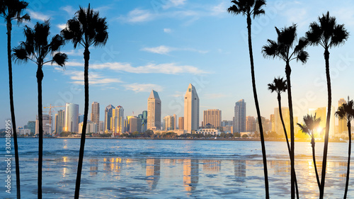 Fotografía Downtown San Diego skyline in California, USA