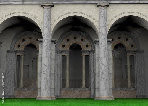 Fotografia Ancient Roman Temple - 3D