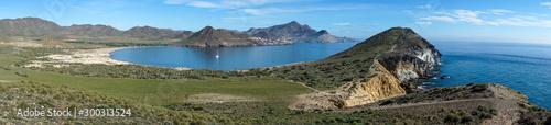 Photo Panorámica de la playa de los genoveses en el cabo de Gata, Almería