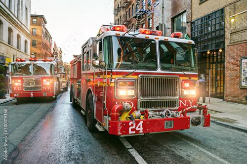 Valokuva New York fire trucks