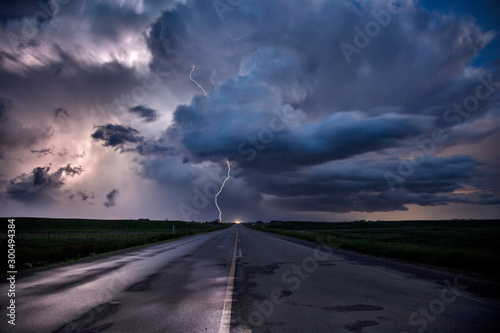 Obraz na plátně Prairie Storm Clouds Canada