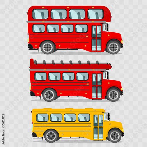 Set of buses Fototapet