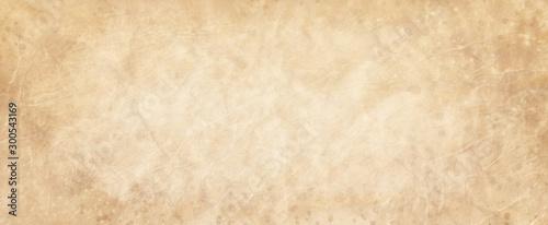 Obraz na plátně Old brown paper parchment background design with distressed vintage stains and i