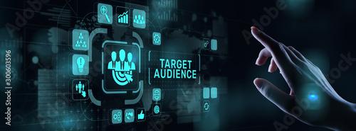 Fotografering Target audience customer segmentation marketing strategy concept on virtual screen