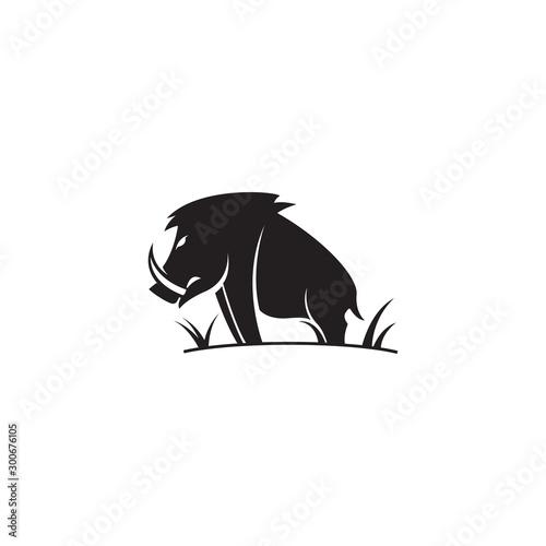 Canvas Print vector illustration wild boar animal design