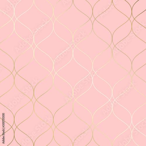 Fototapeta (illustration) gold line background, abstract artistic of geometric background