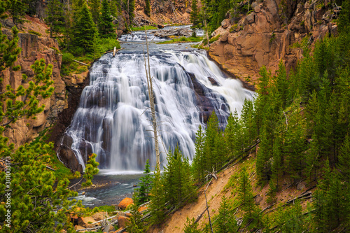 Valokuvatapetti Gibbon Falls at Yellowstone National Park