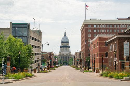 Carta da parati Street View of the Illinois State Capitol Building