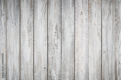 Fototapeta Blue wooden background with old painted boards