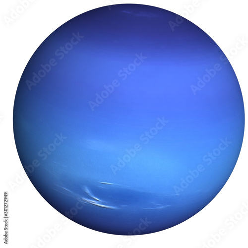 Fotografia High detailed Neptune Planet of solar system with white atmosphere isolated
