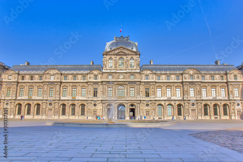 Photo View on the Louvre museum in Paris