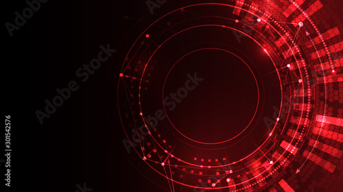 Cyber space red vector