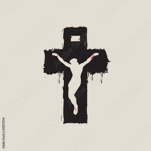 Photo Vector banner with crucifix