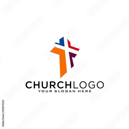 Canvas Print Church vector logo symbol graphic abstract template