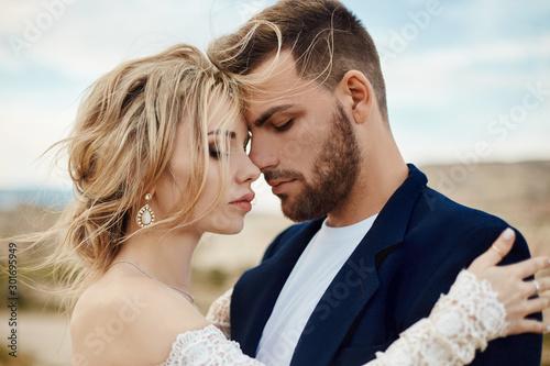 Fotografia, Obraz Love story of a woman and a man