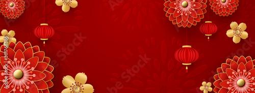 Slika na platnu Chinese Greeting Card for 2020 New Year