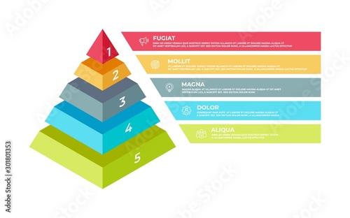 Obraz na plátně Step 3D infographic