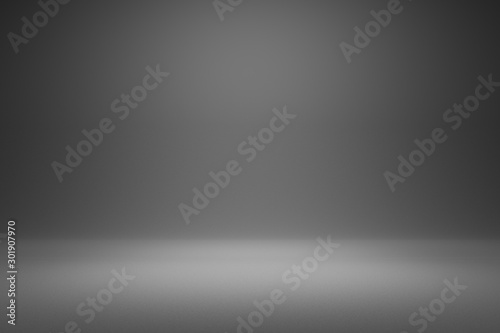 Leinwand Poster Empty gray background and spotlight with studio for showing or design