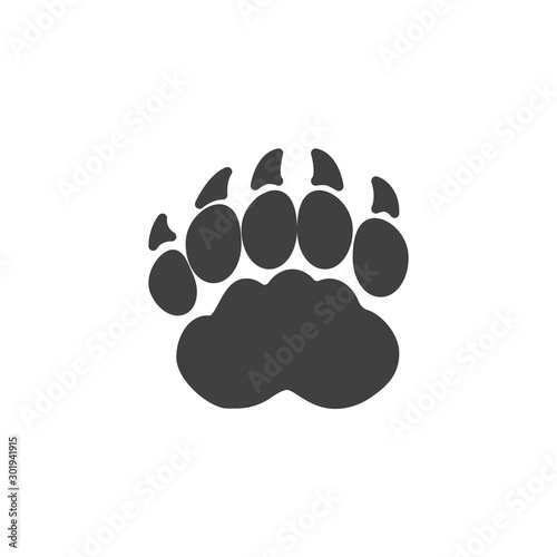 Fotomural Badger paw print vector icon