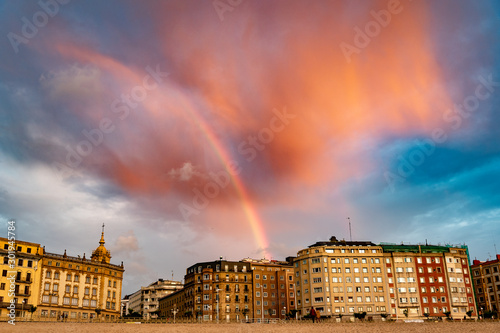 Fotografia Evening by Bay of Biscay in Donostia, Spain.