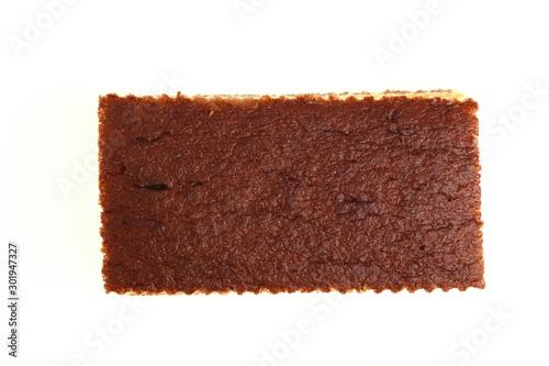 Valokuvatapetti Sponge cake with cocoa filling