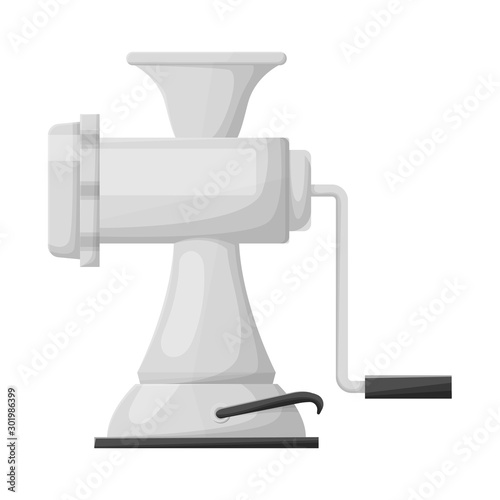 Fotografie, Tablou Isolated object of meat and grinder logo