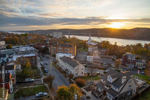 Obraz na plátně Sunset in the Hudson valley