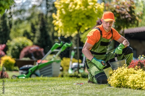 Professional Caucasian Gardener Fototapeta