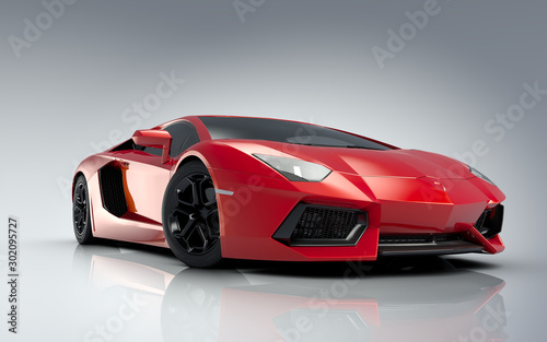 Red sports car background