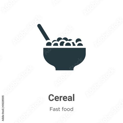 Valokuvatapetti Cereal vector icon on white background