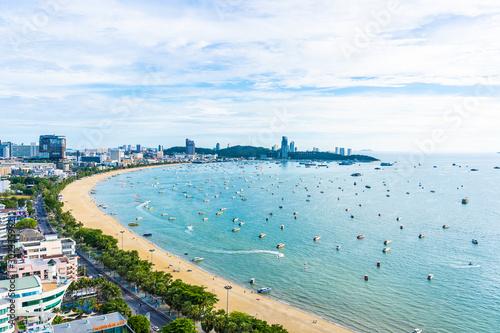 Stampa su Tela Pattaya Thailand - 26 July 2019 Beautiful landscape and cityscape of pattaya cit