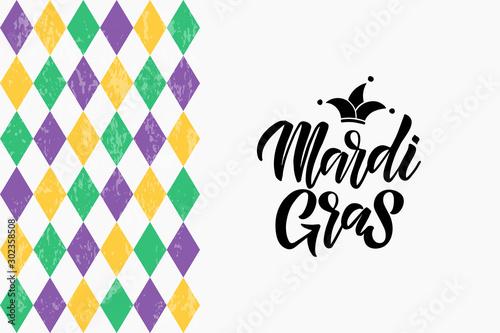 Mardi Gras lettering Fototapeta