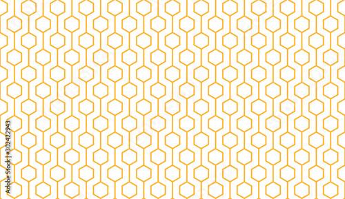 Obraz na plátne Bee honey comb background seamless