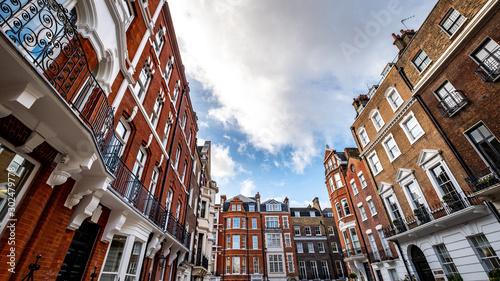 Beautiful Georgian buildings in Marylebone area of London's West End