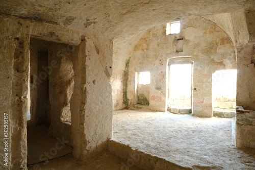 Fotografia Sassi of Matera with arched ceilings and vaults