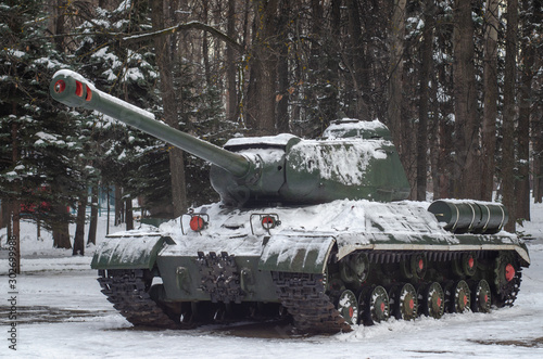 Canvas Print IS-2 heavy tank monument in Victory park, Ulyanovsk