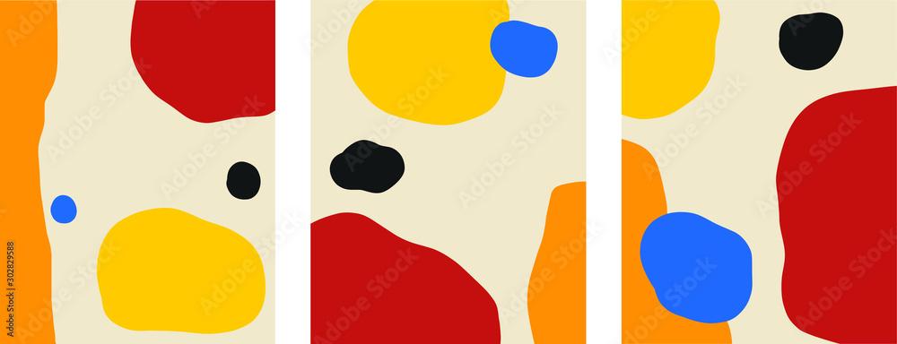 Abstrakcjonistyczna skandynawska minimalna temlates bauhaus paleta podstawowych kolorów <span>plik: #302829588 | autor: Levin</span>