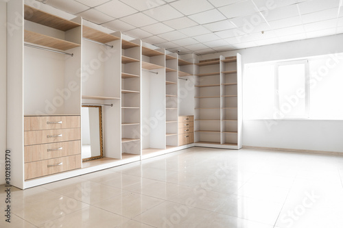 Obraz na płótnie View of empty dressing room