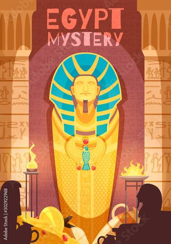 Fotografiet Egyptian Mummy Mystery Poster