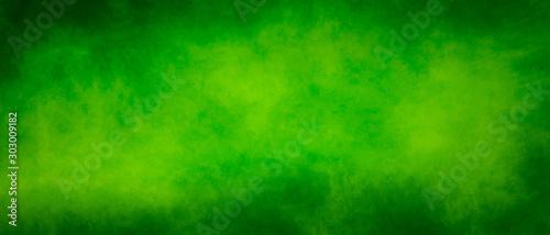 Abstract vintage green splash design background with dark borders