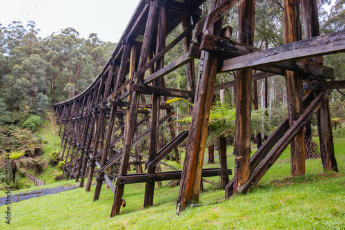 Photo Noojee Trestle Rail Bridge in Victoria Australia