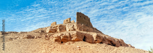 Foto Old fortress close to Aswan in Egypt.