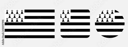 Tela Brittany flag, vector illustration