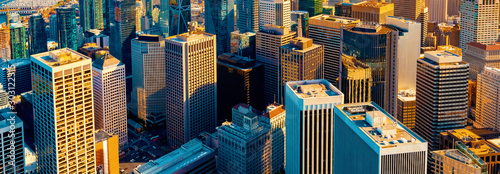 Slika na platnu Downtown San Francisco aerial view of skyscrapers