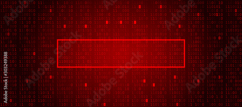 Fotografija Abstract Red Background with Copy Space Shape for Custom Alert Text