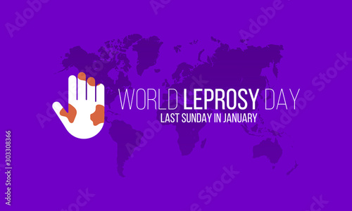 Fotografia Vector illustration on the theme of World Leprosy Day in January