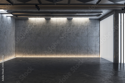 Canvas Print Light concrete gallery interior